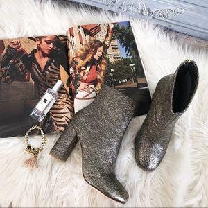 Joie Saleema Metallic Leather Boots BRAND NEW